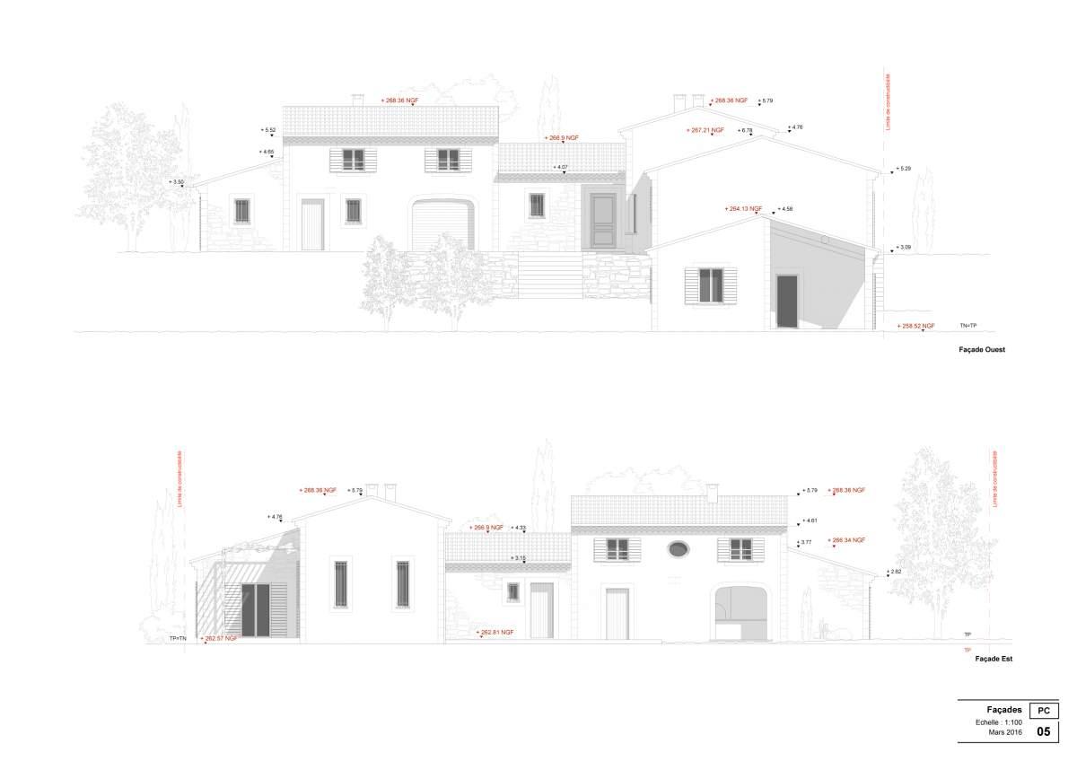 Permis de construire pour villa avec garage et d pendances for Garage et permis de construire