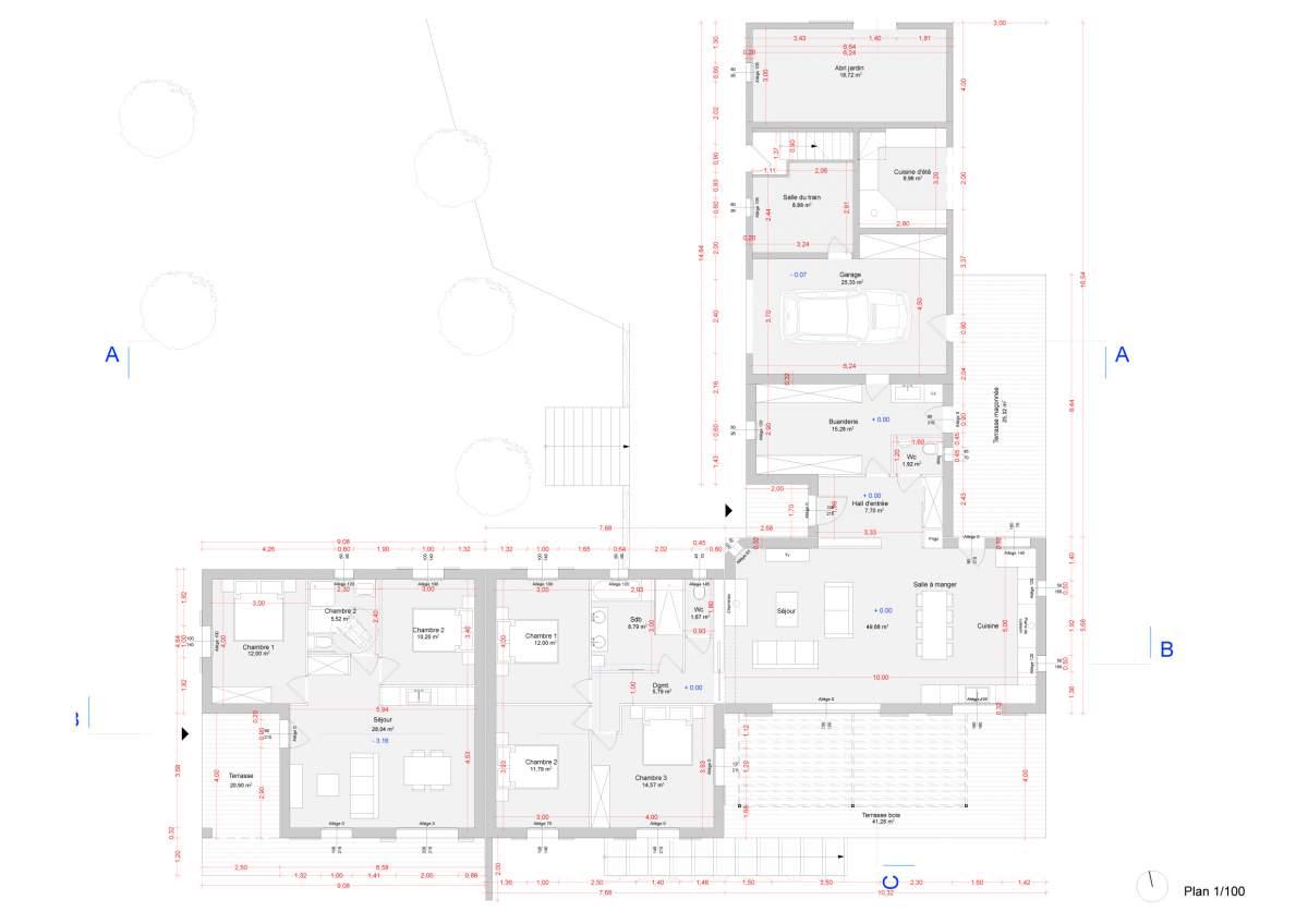 Permis De Construire Pour Une Maison Individuelle Avec Un Garage Et