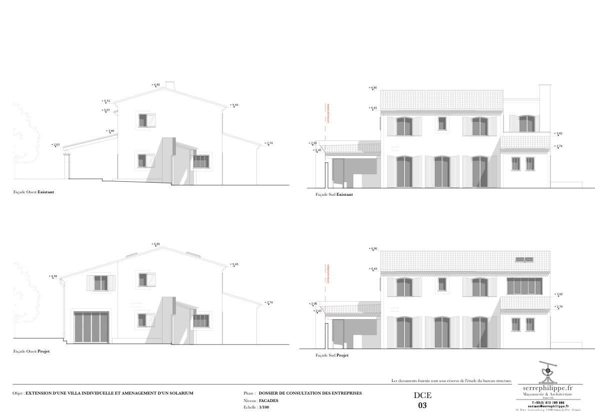 Permis de construire pour l 39 extension d 39 une maison individuelle la fare les oliviers for Construire une maison individuelle