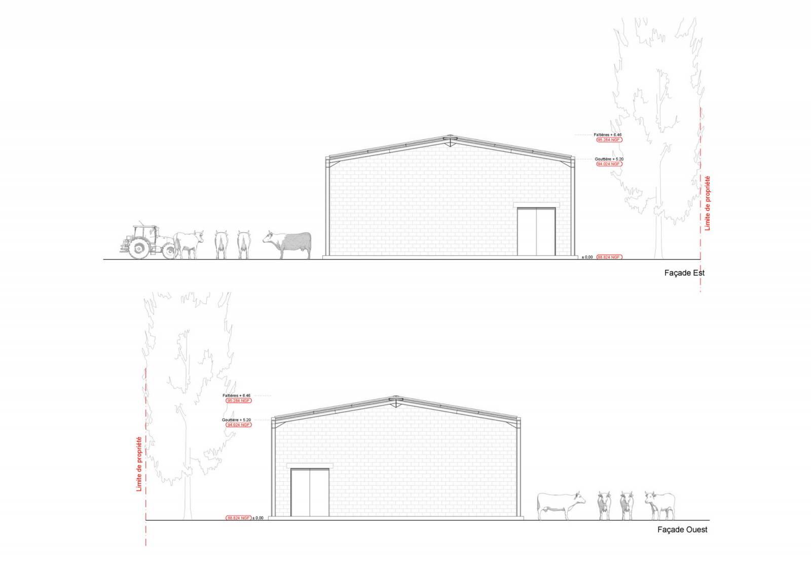 Permis de construire pour un hangar agricole saint martin de crau 13310 am nagement d for Construire une maison sur un terrain agricole