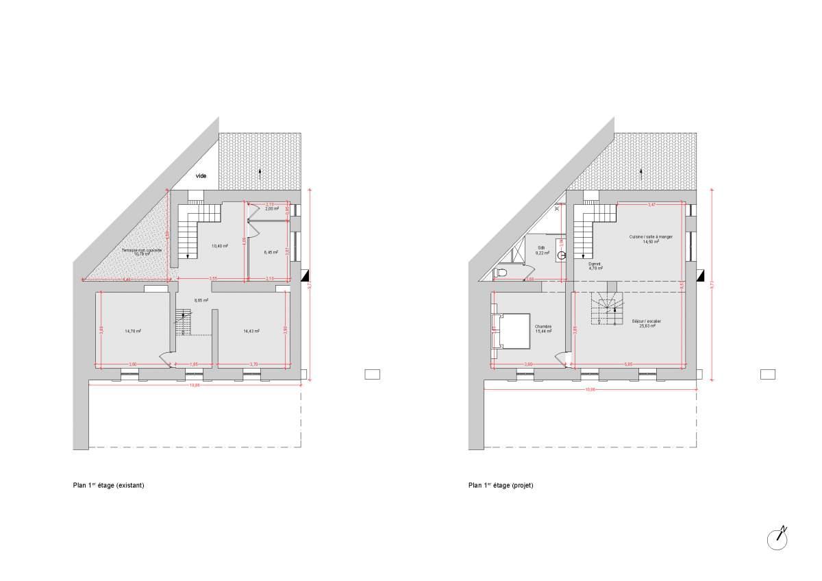 architecte pour r novation de maison de village fontaine de vaucluse 84 am nagement d. Black Bedroom Furniture Sets. Home Design Ideas
