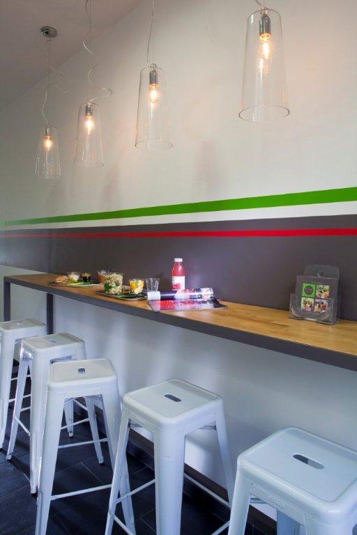Am nagement du restaurant fresh food salon de provence agence architecture provence - Restaurant indien salon de provence ...