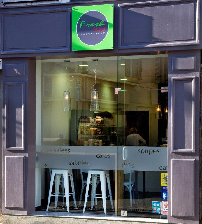 Am nagement du restaurant fresh food salon de provence for Amenagement cuisine restaurant