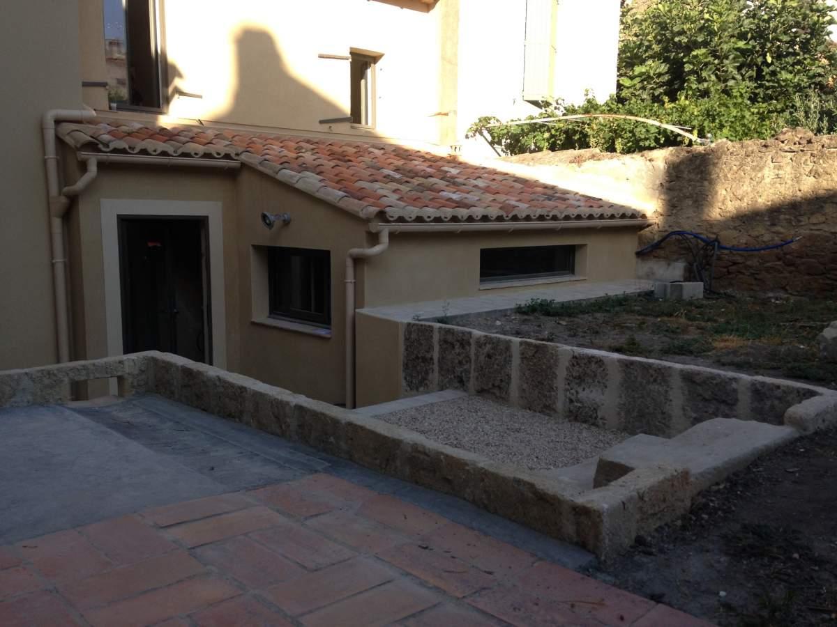 r alisation d 39 une extension d 39 une maison de ville salon de provence 13300 am nagement d. Black Bedroom Furniture Sets. Home Design Ideas