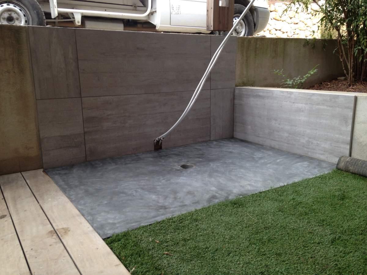 R alisation d 39 un receveur de douche en b ton liss 13122 ventabren am nagement d 39 int rieur - Receveur beton de synthese ...