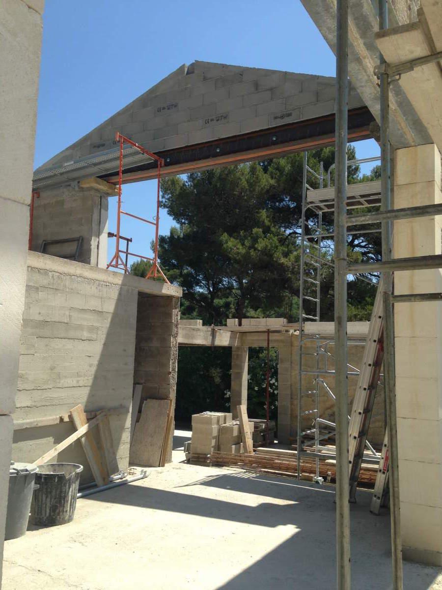 R alisation d 39 un mas proven al en pierres salon de provence agence architecture provence - Architecte salon de provence ...