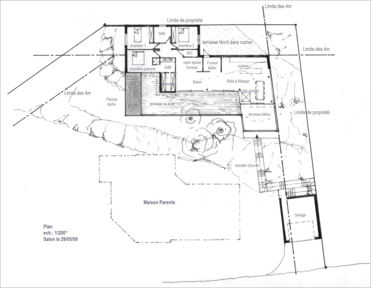 projet d 39 une maison moderne carry le rouet am nagement d 39 int rieur sur aix en provence. Black Bedroom Furniture Sets. Home Design Ideas